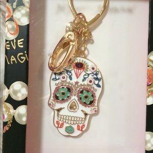 Betsey Johnson Skull Keychain
